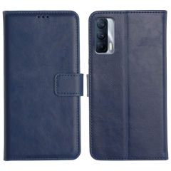Realme X7 Magnetic Flip Cover Leather Finish Mobile Case - Blue