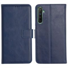Realme X2 Magnetic Flip Cover Leather Finish Mobile Case - Blue