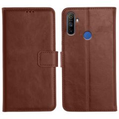 Realme Narzo 10A Magnetic Flip Cover Leather Finish Mobile Case - Brown