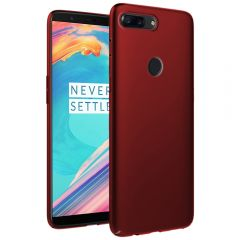 Ultra Slim Matte Back Case Cover for OnePlus 5T - Wine Red