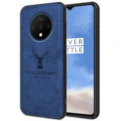 OnePlus 7T Back Case Cover Soft Fabric Deer Series - Blue