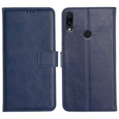 Redmi Note 7 Pro Magnetic Flip Cover Leather Finish Mobile Case - Blue
