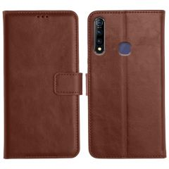 Vivo Z1 Pro Magnetic Flip Cover Leather Finish Mobile Case - Brown