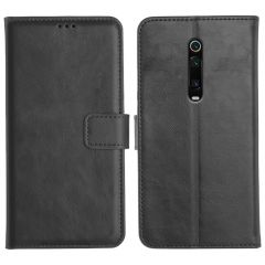 Redmi K20 Pro Magnetic Flip Cover Leather Finish Mobile Case - Black
