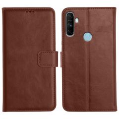 Realme Narzo 20A Magnetic Flip Cover Leather Finish Mobile Case - Brown