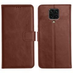 Poco M2 Pro Magnetic Flip Cover Leather Finish Mobile Case - Brown