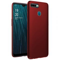 Ultra Slim Matte Back Case Cover for Oppo A5S - Wine Red