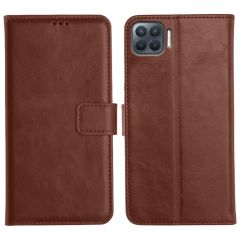 Oppo F17 Pro Magnetic Flip Cover Leather Finish Mobile Case - Brown