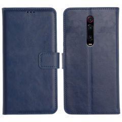 Redmi K20 Magnetic Flip Cover Leather Finish Mobile Case - Blue