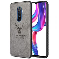 Realme X2 Pro Back Case Cover Soft Fabric Deer Series - Grey