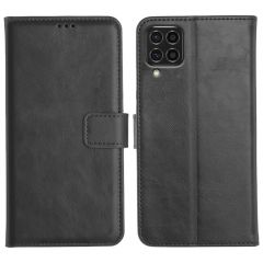 Samsung Galaxy F62 Magnetic Flip Cover Leather Finish Mobile Case - Black