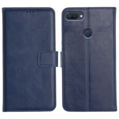 Oppo A12 Magnetic Flip Cover Leather Finish Mobile Case - Blue