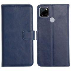 Realme C12 Magnetic Flip Cover Leather Finish Mobile Case - Blue