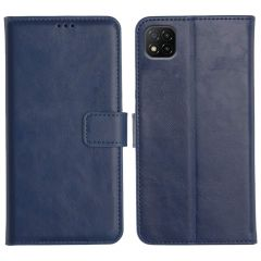 Poco C3 Magnetic Flip Cover Leather Finish Mobile Case - Blue