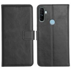Realme Narzo 20A Magnetic Flip Cover Leather Finish Mobile Case - Black