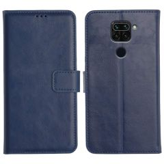 Redmi Note 9 Magnetic Flip Cover Leather Finish Mobile Case - Blue