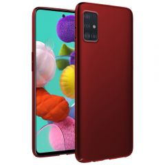 Ultra Slim Matte Back Case Cover for Samsung Galaxy A51 - Wine Red