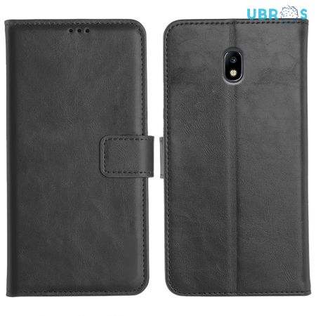 Samsung Galaxy J7 Pro Magnetic Flip Cover Leather Finish Mobile Case