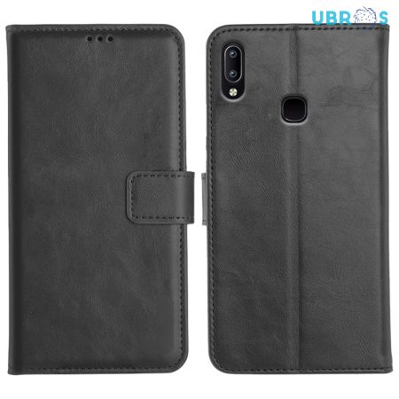Vivo Y95 Magnetic Flip Cover Leather Finish Mobile Case