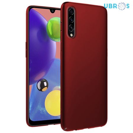 Ultra Slim Matte Back Case Cover for Samsung Galaxy A70s - Wine Red