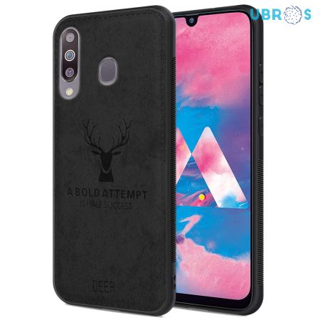 Samsung Galaxy M30 Back Case Cover Soft Fabric Deer Series