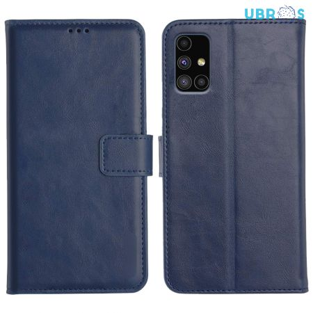 Samsung Galaxy M51 Magnetic Flip Cover Leather Finish Mobile Case - Blue