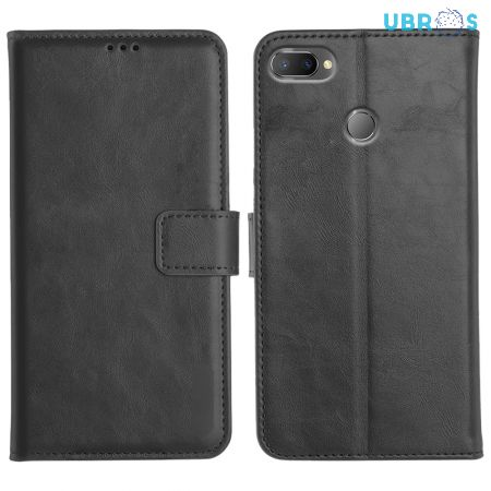 Realme U1 Magnetic Flip Cover Leather Finish Mobile Case