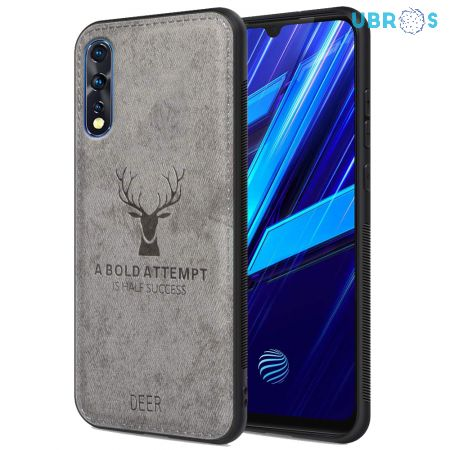 Vivo Z1X Back Case Cover Soft Fabric Deer Series - Grey