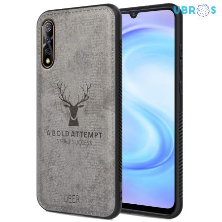 Vivo S1 Back Case Cover Soft Fabric Deer Series - Grey