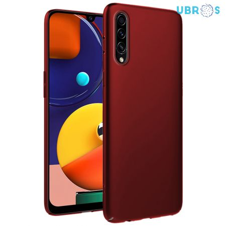 Ultra Slim Matte Back Case Cover for Samsung Galaxy A50S - Wine Red