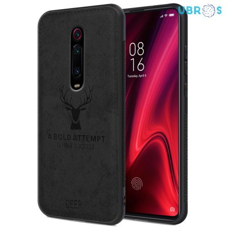 Redmi K20 Pro Back Case Cover Soft Fabric Deer Series - Black