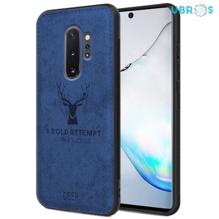 Samsung Galaxy Note 10 Plus Back Case Cover Soft Fabric Deer Series - Blue