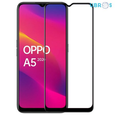 Oppo A5 2020 Screen Protector Premium Curved Full Glue Edge to Edge Tempered Glass -Black
