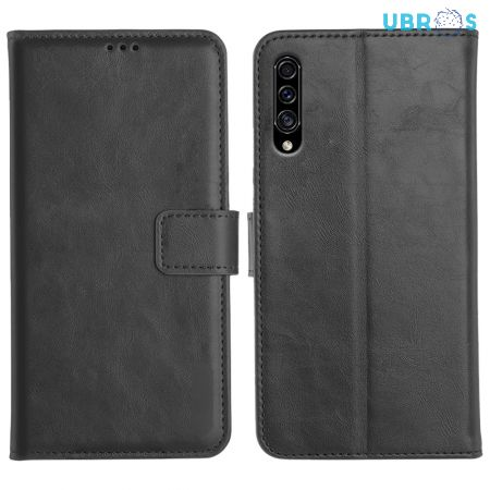 Samsung Galaxy A30S Magnetic Flip Cover Leather Finish Mobile Case