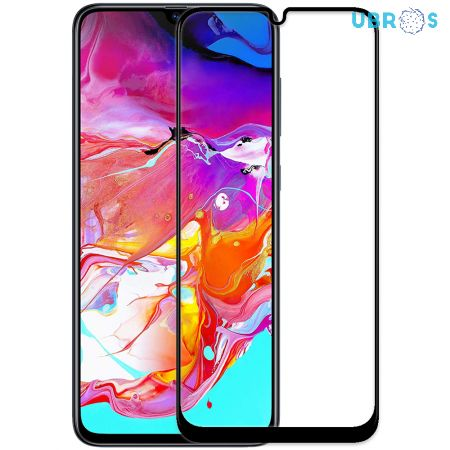 Samsung A70 Screen Protector Premium Curved Full Glue Edge to Edge Tempered Glass - Black