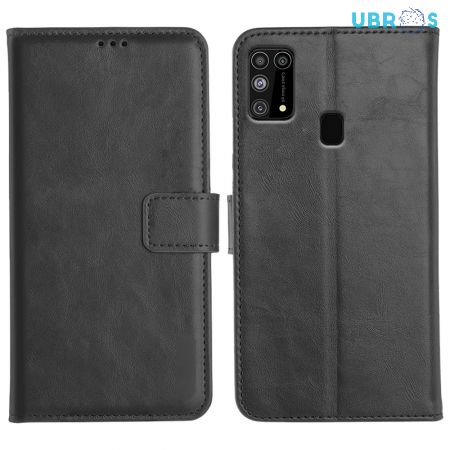 Samsung Galaxy M31 Magnetic Flip Cover Leather Finish Mobile Case