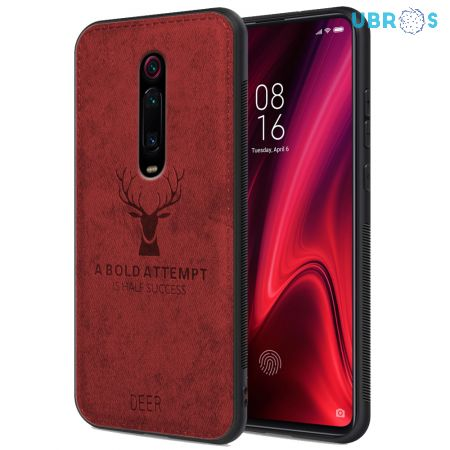 Redmi K20 Pro Back Case Cover Soft Fabric Deer Series - Red
