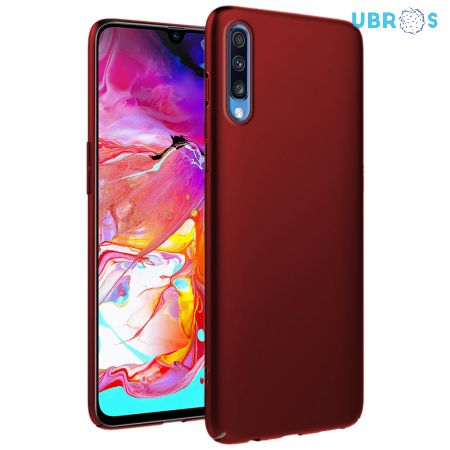 Ultra Slim Matte Back Case Cover for Samsung Galaxy A70 - Wine Red