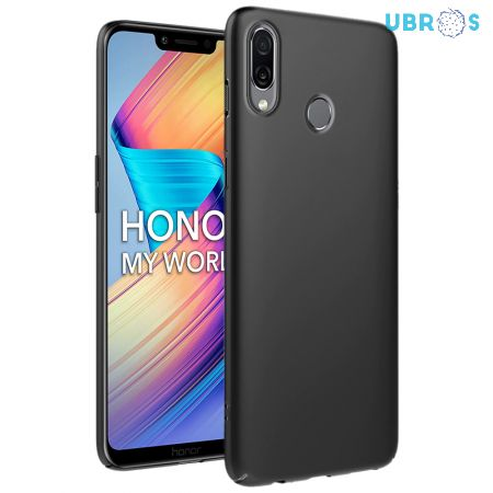 Ultra Slim Matte Back Case Cover for Huawei Honor Play - Jet Black