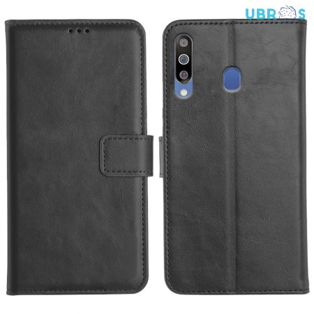 Samsung Galaxy M30 Magnetic Flip Cover Leather Finish Mobile Case