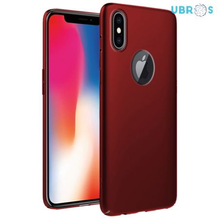 Ultra Slim Matte Back Case Cover for iPhone X - Wine Red
