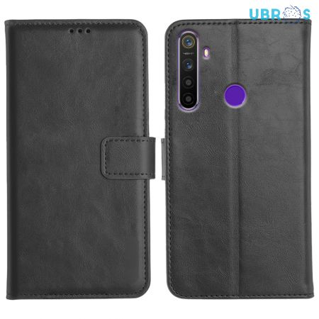 Realme 5s Magnetic Flip Cover Leather Finish Mobile Case
