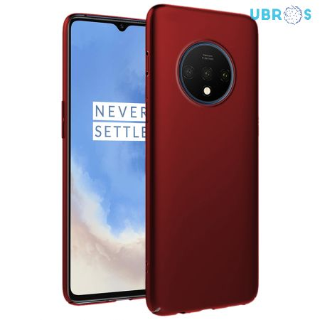 Ultra Slim Matte Back Case Cover for OnePlus 7T - Wine Red