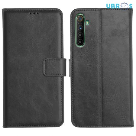 Realme X2 Magnetic Flip Cover Leather Finish Mobile Case