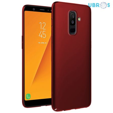 Ultra Slim Matte Back Case Cover for Samsung Galaxy A6 Plus - Wine Red