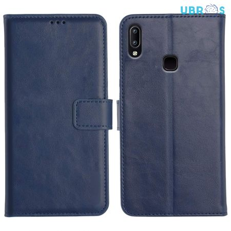 Vivo Y95 Magnetic Flip Cover Leather Finish Mobile Case - Blue