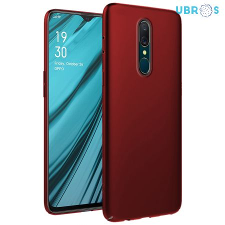 Ultra Slim Matte Back Case Cover for Oppo A9 - Wine Red