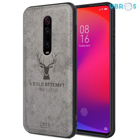 Redmi K20 Back Case Cover Soft Fabric Deer Series - Grey