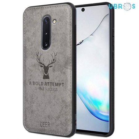 Samsung Galaxy Note 10 Back Case Cover Soft Fabric Deer Series - Grey