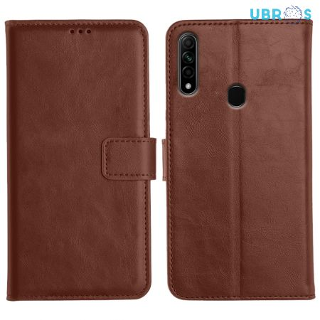 Oppo A31 Flip Back Cover Leather Finish Mobile Case - Brown